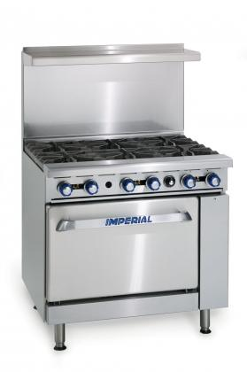 Imperial IR-6-C 6 Burner Range With Convection Oven